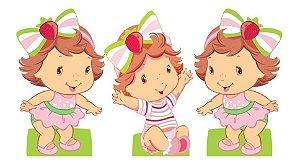 Kit 3 Centro Mesa Moranguinho Baby Cute Display Decoração