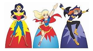 Kit 3 Totem Super Hero Girls Cenário Decoração Aniversário