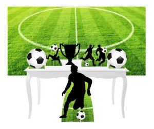 Combo Festa Bronze Futebol Esporte Bola Painel Totem
