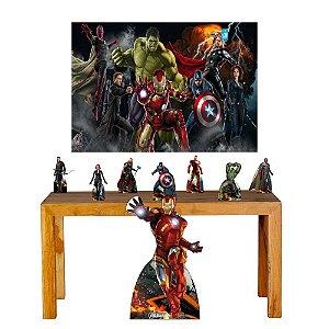 Super Kit Vingadores Decoração Totem Displays + Painel