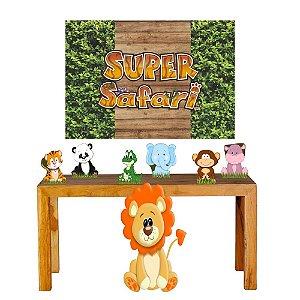 Super Kit Safari Baby Decoração Totem Displays + Painel