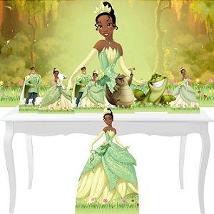 Combo Bronze Princesa E O Sapo Painel Display Festa