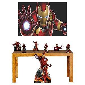Super Kit Homem De Ferro Decoração Totem Displays + Painel