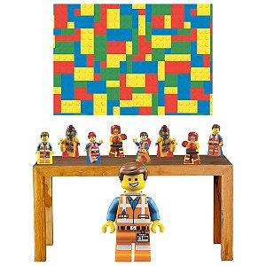 Super Kit Lego Decoração Totem Displays + Painel