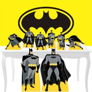 Combo Festa Diamante Painel Totem Batman Heroi