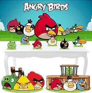 Combo Festa Diamante Angry Birds Painel Totem