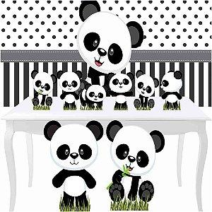Combo Festa Diamante Panda Baby Painel Totem