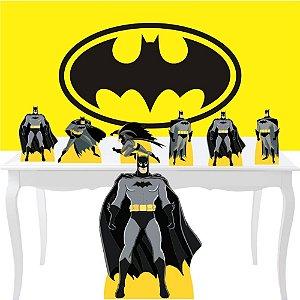 Combo Prata Batman Painel Totem Display Aniversário