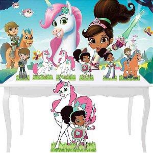 Combo Prata Festa Aniversario Princesa Display Nella