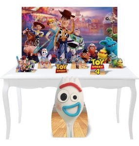 Combo Festa Prata Painel Totem Display Toy Story 4 Mdf