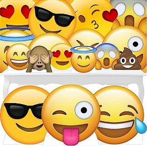 Combo Festa Ouro Totem Display Painel Emoji Decoração