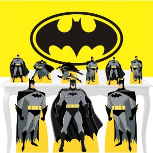 Combo Ouro Batman Painel Totem Aniversário Display
