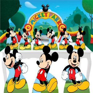 Combo Ouro Totem Painel Mickey Disney Painel Totem Display