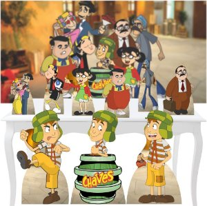 Combo Festa Ouro Totem Turma Do Chaves Display Mdf Banner