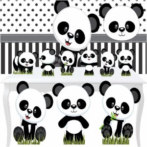 Kit Festa Combo Premium Panda Baby Totem Display Painel