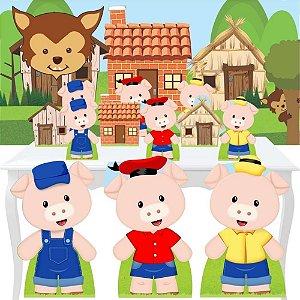 Combo Festa Premium Tres Porquinhos Painel Totem Display