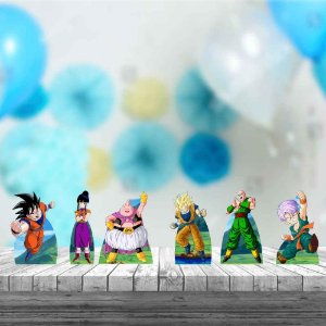 Kit 6 Displays Totens Mesa Dragon Ball Aniversário