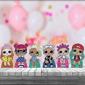 Kit 6 Display Mesa Lol Surprise Glitter Decoração Festa