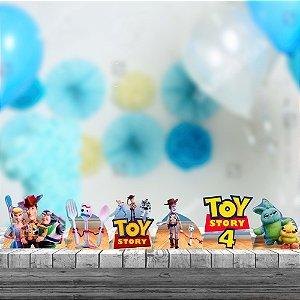 Kit 6 Totens Mdf Display Centro Mesa 26cm Toy Story 4