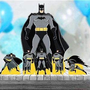 Kit 7 Totem Display Festa Aniversário Batman Heroi
