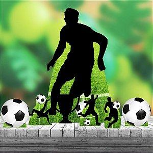 Kit Festa 7 Totem Display Chão Futebol Bola Jogador