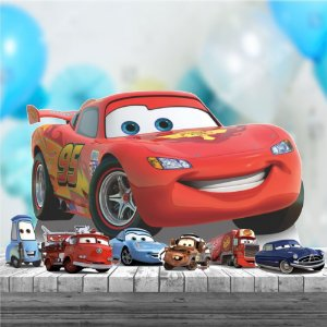 Kit 7 Carros Pixar Mcqueen Totem Display Mdf