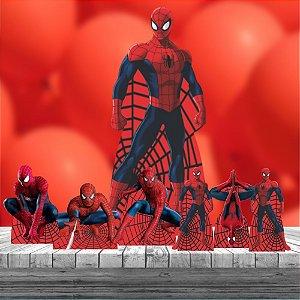 Kit 7 Totem Homem Aranha Cenário Decoração Aniversário