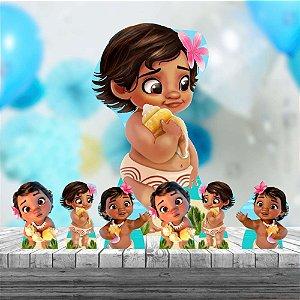 Kit 7 Moana Baby Totem Display Mdf Festa Aniversario