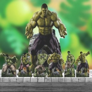 Kit 7 Hulk Heroi Totem Display Centro Mesa Chão