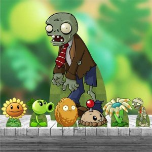 Kit 7 Totem Display Plantas Vs Zumbis Zombies