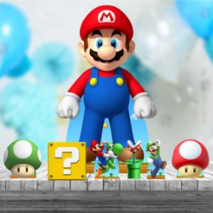 Kit 7 Super Mario Totem Display Mdf Festa Aniversario
