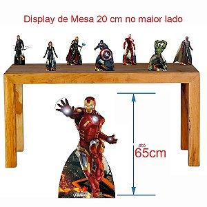 Kit 7 Vingadores Decoração Totem Display Festa Mdf