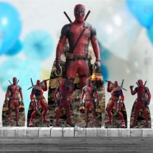 Kit 7 Deadpool Totem Display Centro Mesa Chão