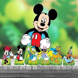 Kit 7 Turma Do Mickey Totem Display Mdf Festa