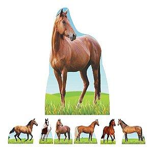 Kit 7 Festa Totem Display Aniversario Cavalo Fazenda