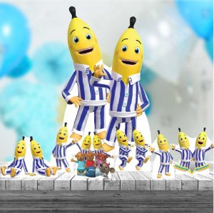 Kit 7 Totem Festa Display Bananas De Pijamas