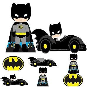 Kit 8 Totem Display Batman Cute Festa Aniversário