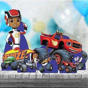 Kit 8 Totem Display Mdf Blaze Monster Festa Aniversário
