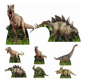 Kit 8 Totem Display Dinossauro Festa Aniversário