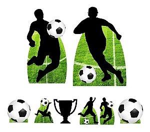 Kit 8 Totem Display Futebol Bola Jogador Festa Aniversário
