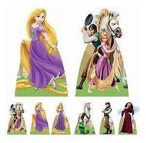 Kit 8 Totem Display Enrolados Rapunzel Festa Aniversário