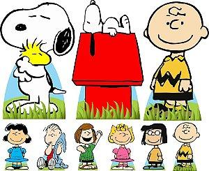 Kit 9 Completo Totem Display Snoopy Chalie Brown Festa