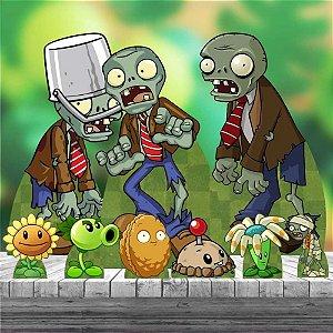 Kit 9 Totem Display Plantas Vs Zumbis Zombies
