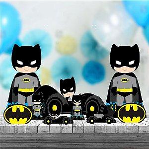 Kit 9 Batman Cute Decoração Totem Display Festa Mdf