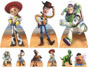 Kit Festa Infantil Totem De Chão 9 Peças Mdf Toy Story