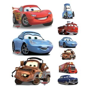 Kit 9 Carros Pixar Mcqueen Totem Display Aniversario