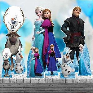 Kit 9 Festa Aniversario Completo Totem Chão Mesa Frozen Mdf