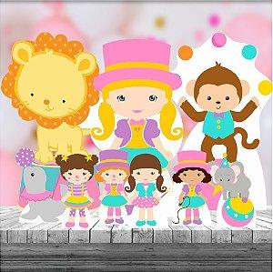 Kit 9 Circo Menina Totem De Festa Display
