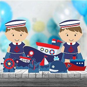 Kit 9 Totem Display Festa Marinheiro Barco Mar