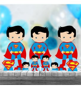 Kit 9 Superman Cute Totem Display Centro Mesa Chão
